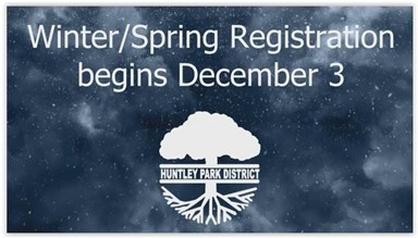 Winter/Spring 2019 Registration Begins Monday, December 3